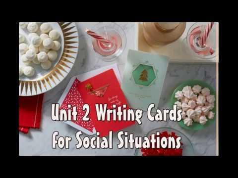 Writing Cards for Social Situations 1 การเขียนการ์ดภาษาอังกฤษ 1