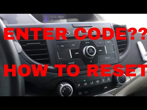 RADIO CODE - How to reset your Honda or Acura radio code (most models) Quick and Easy