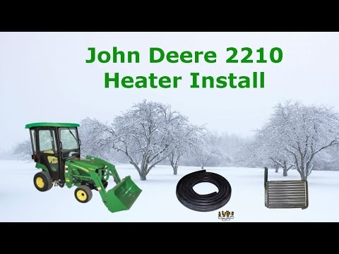 Heater install on John deere 2210