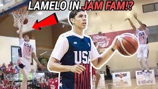 LaMelo Ball Goes JAM FAM & Gelo CAN