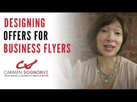 Designing Offers for Business Flyers | Carmen Sognonvi