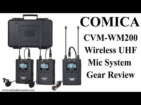 Comica CVM WM200 Wireless Microphone System Unboxing & Review