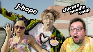 j-hope ЗАЛЕЗ к Becky G ПРЯМО ТУДА?! 🤯 'Chicken Noodle Soup' MV РЕАКЦИЯ!