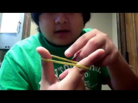 How to make a rubber band finger sling- shot !!!!!!!