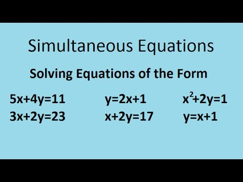 Simultaneous equations - the complete maths guide