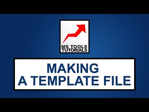 Excel Tutorial For Beginners - How To Make A Template File | MS Tools Tutorials