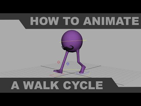 How to Animate a Basic Walk Cycle in Maya