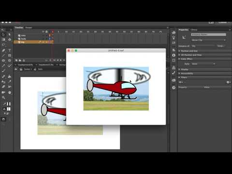 Animate a Flying Helicopter Adobe Animate CC Tutorial
