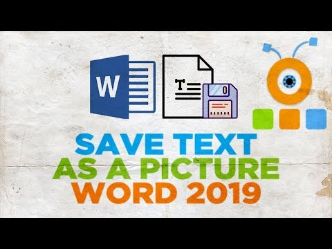 How to Save Text as a Picture in Word 2019