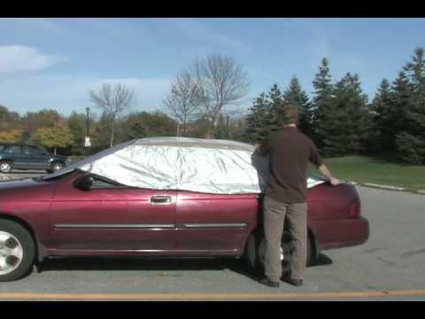 keep your car cool in summer: easycover - car sunshade