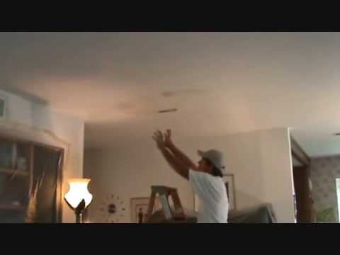 How to repair a water damaged ceiling...Part 1