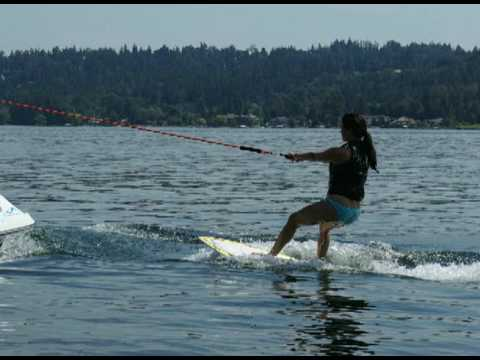 WAKESURF - INLAND SURFER Getting up with RAYNE