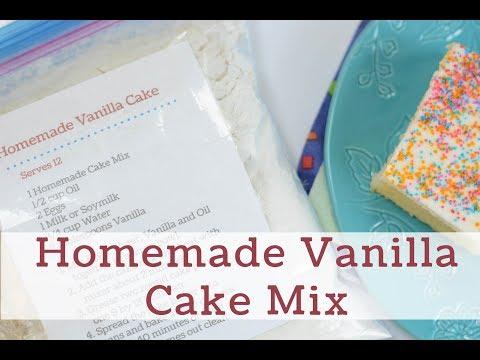 Homemade Vanilla Cake Mix Recipe