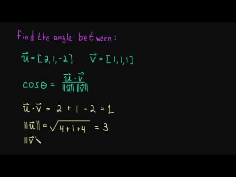 1.3 Find the Angle Between Two Vectors (example)