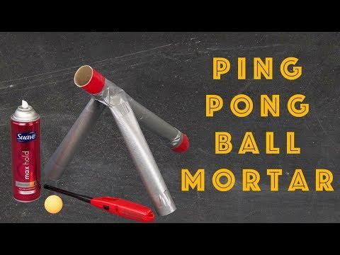 DIY Ping Pong Ball Mortar Project