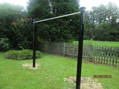 How To Build A Pull Up Bar, (Outside) !!
