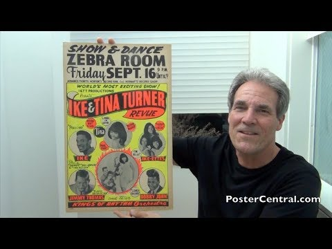 Ike & Tina Turner 1966-68 Concert Posters – Extra Stylized Printing