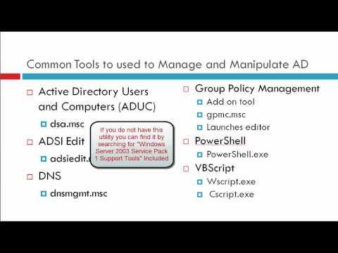 (Vid0001) Microsoft Active Directory Domain Services Basics - Part 1