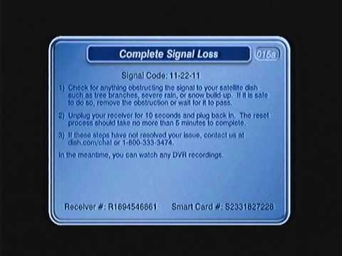 Complete Signal Loss