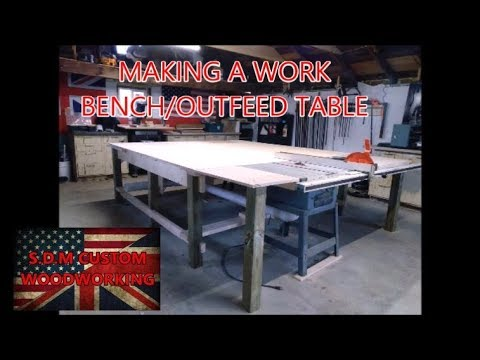 making a work bench /outfeed table with dust collection and flip up tool storage