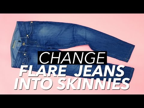How to Make Skinny Jeans from Flare or Boot Cut Jeans | WITHWENDY
