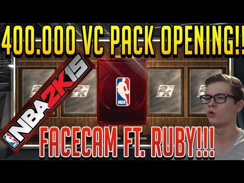 NBA 2k15 MyTEAM - 400K VC PACK OPENING FT. RUBY [FACECAM] DEUTSCH/GERMAN