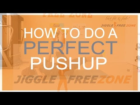 Lose Arm Fat | Easy Push-Up for Beginners | Jiggle Free Zone