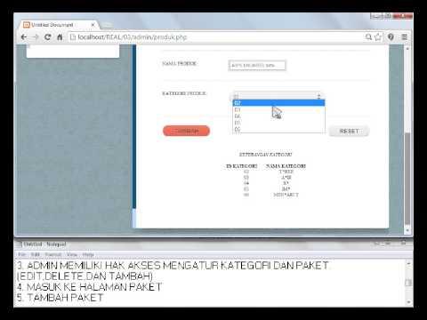 Aplikasi web dengan php dan database oracle