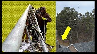 DIY Ham radio antenna tower installation supports - PakVim
