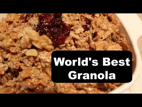 How to make your own healthy Granola from Oats and Wheaties at home from scratch
