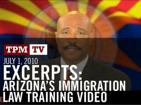 Excerpts From Arizona's Immigration Law Training Video