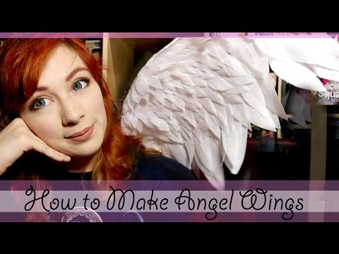 How to Make Angel Wings (feathered wings)