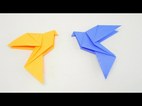 How to make paper Dove Bird?