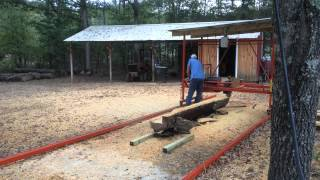 Lucas's homemade swing sawmill 2 4 years ago