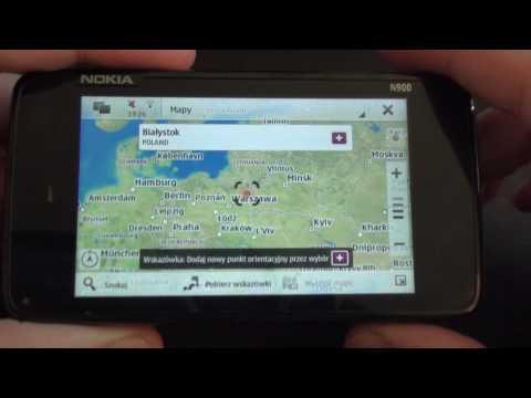 Nokia N900 PR 1.2 - menu & Ovi maps