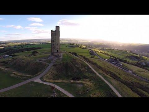 Castle Hill Huddersfield - A Birds Eye View