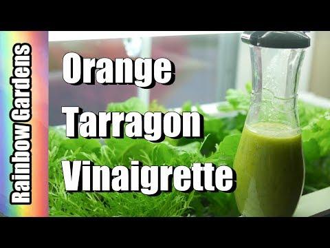 Orange Tarragon Vinaigrette Salad Dressing Recipe + Fall Garden Harvest, Lettuce & Herbs
