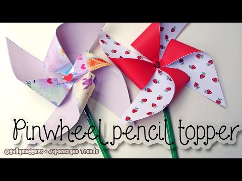 DIY Pinwheel Pencil Topper Tutorial - How To
