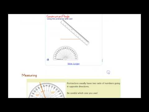 Using a Protractor on Mathisfun.com