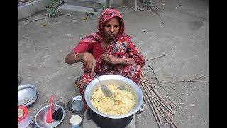 Village Food | Delicious Kofta biryani recipe for Eid festival | Grandmother recipes-84