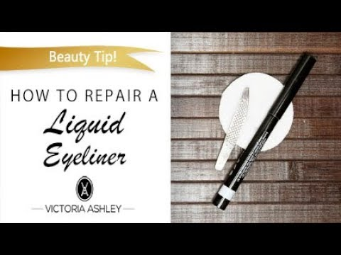 How to Repair a Liquid Eyeliner by Victoria Ashley Beauty