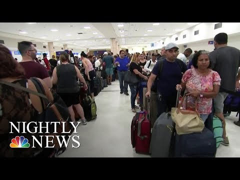 Puerto Rico Residents Desperately Trying To Leave The Island | NBC Nightly News