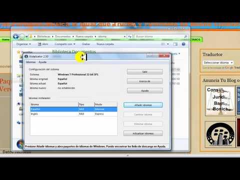 Instalador de Idioma para Windows 7 SP1 Todas las versiones de Windows