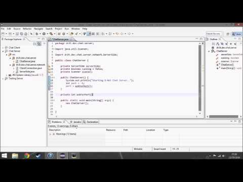 Making a chat server/client program in Java - time-laps
