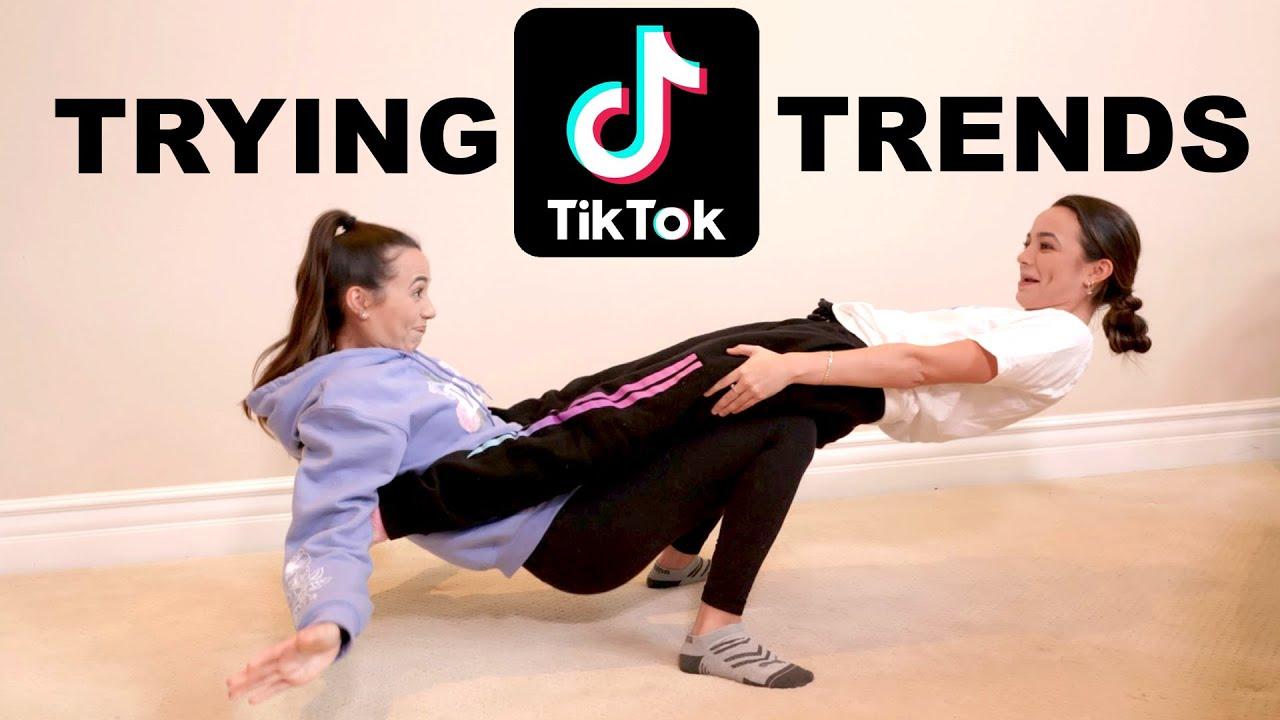 Trying Popular Tik Tok Trends - Merrell Twins