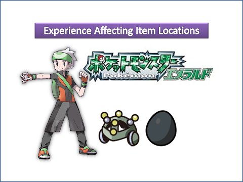 Pokemon Emerald - Experience Affecting Item Locations