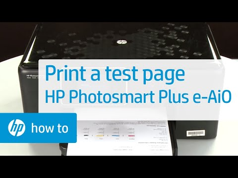 Printing a Test Page - HP Photosmart Plus e-All-in-One Printer (B210a)