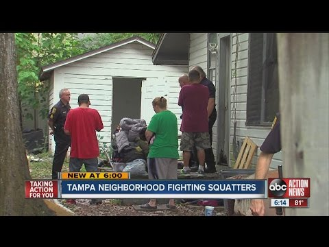Tampa neighborhood fighting squatters