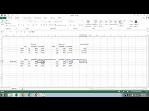 GDP Part 5 Real vs Nominal GDP Calculation Example 2