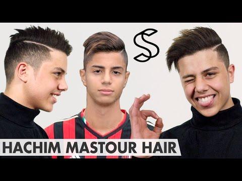Hachim Mastour Hairstyle - Undercut with long top & line-up - Men's hair